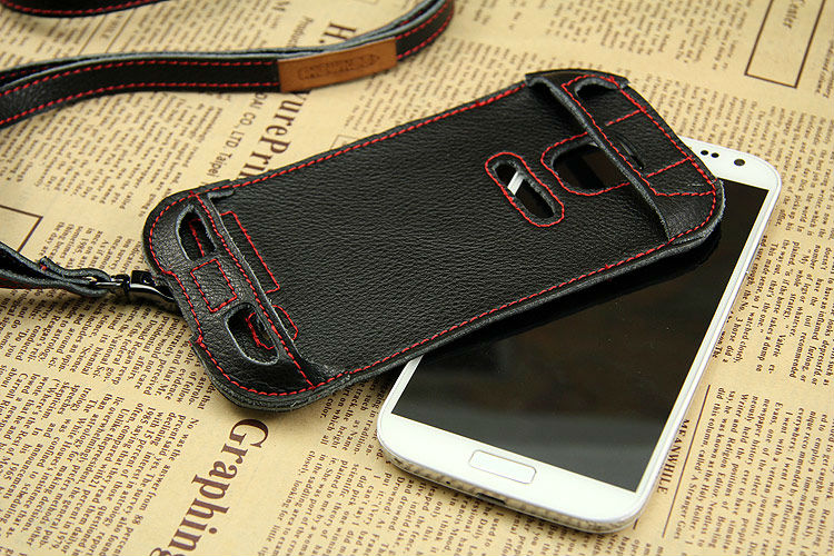 Stylish skateboard design genuine leather case cover for samsung galaxy S4 i9500