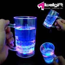 wholesale Light up drinking glasses colorful LED bar beer glowing mug cup