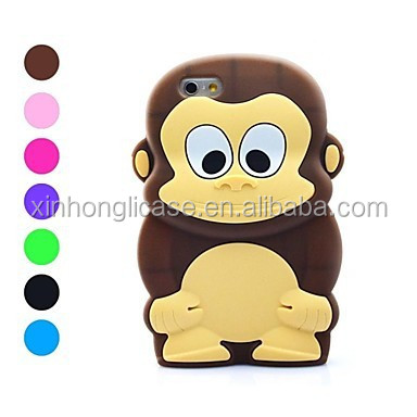 3D Design Cartoon Monkey Pattern Soft Case for iPhone 6