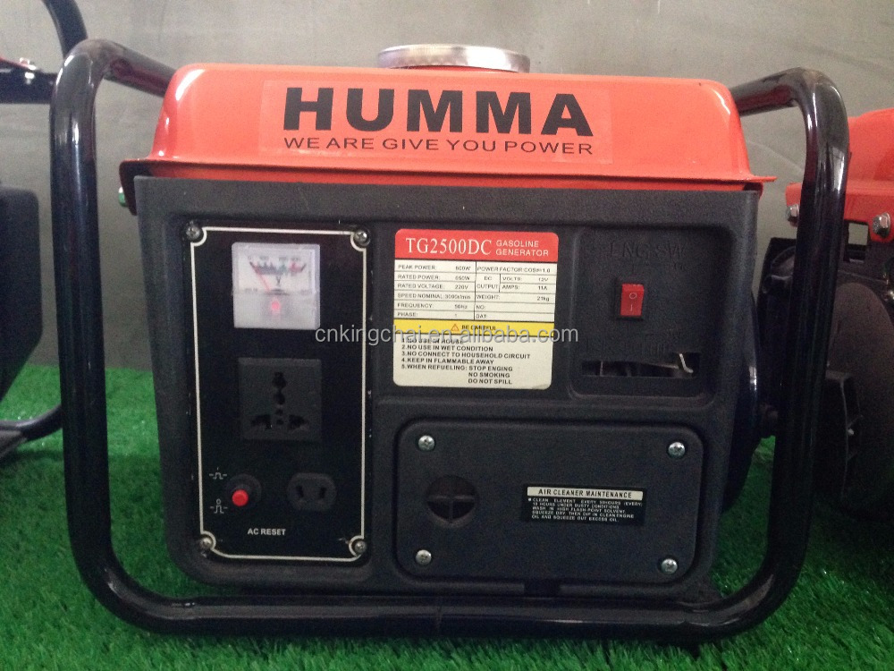 Kingchai mini portable 300w 650w gasoline generator G950 for camp and home use