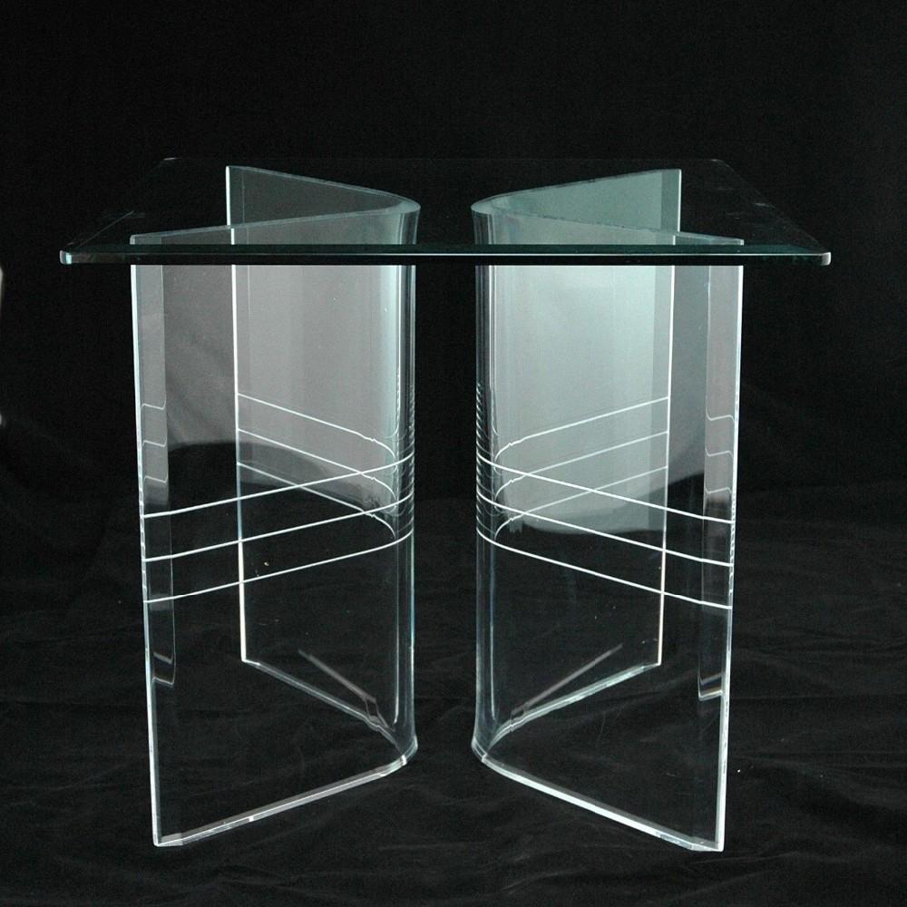 klaren acryl lucite v förmigen esstisch basen-möbelbein-produkt id, Esstisch ideennn
