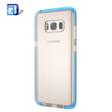 Soft tpu+pc mobile phone case with Colorful bumper thin skin cover for Samsung galaxy s8