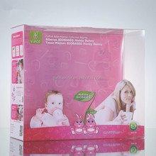 Customized Pvc Plastic Packaging Clear Box With Hanger For baby clothes