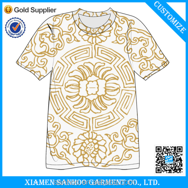 100% Poyester sublimation t-shirt Mesh T-shirt Sublimation Blank T-shirt