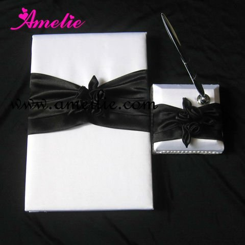 Stripe designer wedding guest books