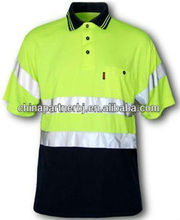 Wholesale sale fluorescent high quality reflective safety cheap t shirts