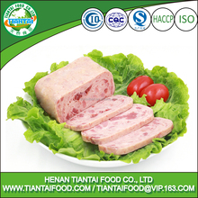 vegetarian ham in food packing box