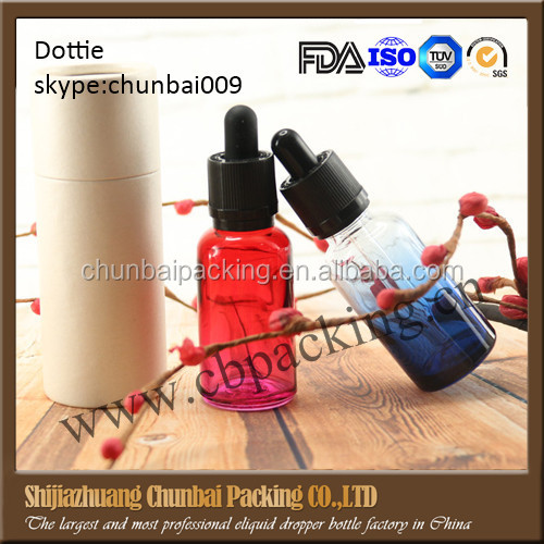 colored glass dropper bottles for e liquid e juice cosmetic packing wholesale made in China