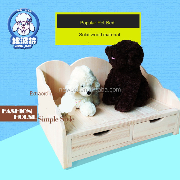 China manufactory attractive fashion dog house bed wooden pet cage dog kennel house with drawer