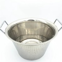 Stainless steel big size commercial bucket strainer