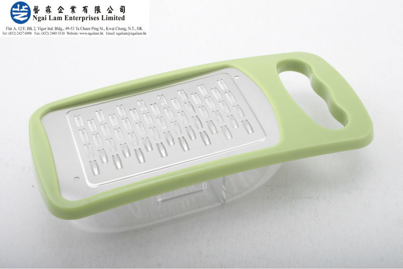 Stainless Steel Etch Blade With Plastic Container Ribbon Grater