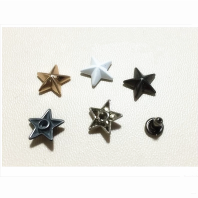 star shaped rivets, decoration effect rivets, fashion rivet