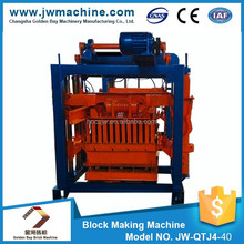 QTJ4-40 semi-automatic block making machine price, equipment for the production of bricks, small scale production line