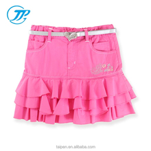 2016 Summer Collection Kids Girls Skirt Teen Girls Peach Pleated Wear Skirt Dress For 2-14 Years Girls