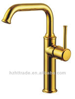 Home use copper brass mixer tap long single handle kitchen faucet