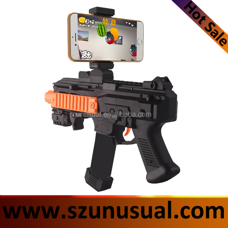 2017 new product toy gun Virtual Shooting Game Reality Experience Bluetooth ar gun for mobile phone