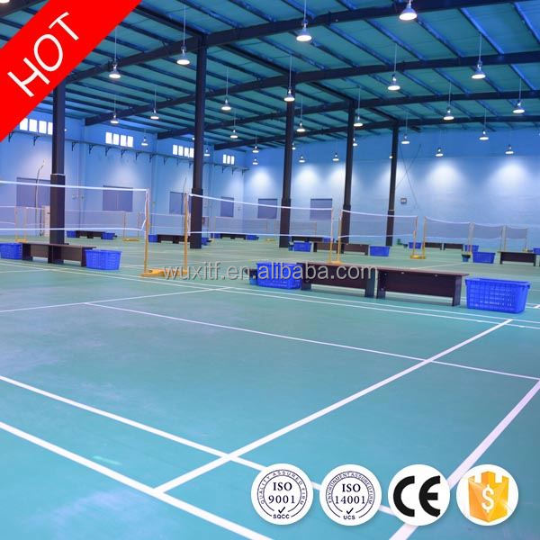 2016 hot sale top quality Eco friendly wear resistant synthetic badminton court flooring for indoor