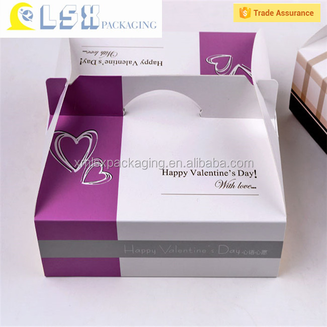 Cute paper cake box cardboard box for cake box packaging design for cake
