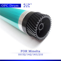 Compatible copier opcdrum with gear for Minolta DI 152/162/183/210 opc drum for laser printer cartridge