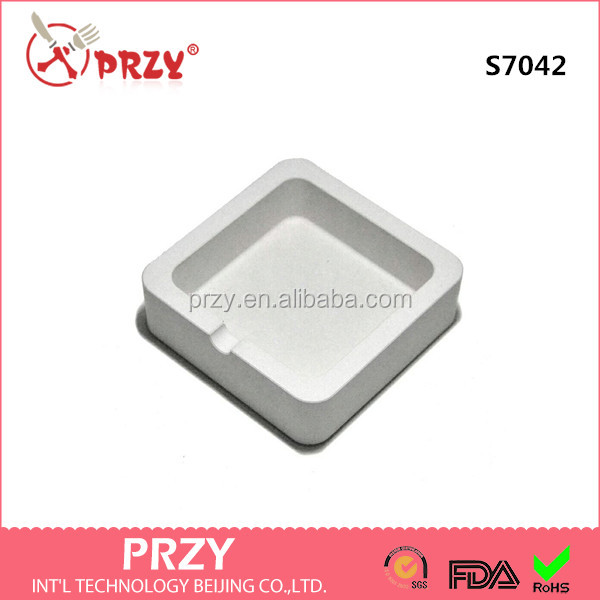 S7042 Creative Cement concrete ashtray silicone soap mold