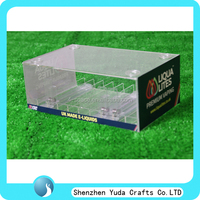 Counter top acrylic e juice bottle display case, acrylic clear e liquid bottle storage box