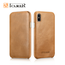 Fashion Real Leather Cell Phone Book Style Case for iPhone 8