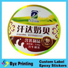 Custom logo printing waterproof PVC animals stickers