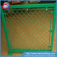 High quality pvc coated 6x6 used chain link fence panels for sale