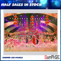 Sunrise second hand led display screen hd videos indoor led screen
