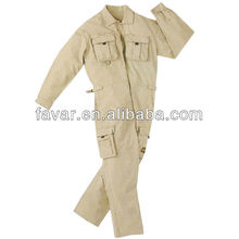 Man boiler suit and oil field cotton comfortable bellows pocket wokwear coverall