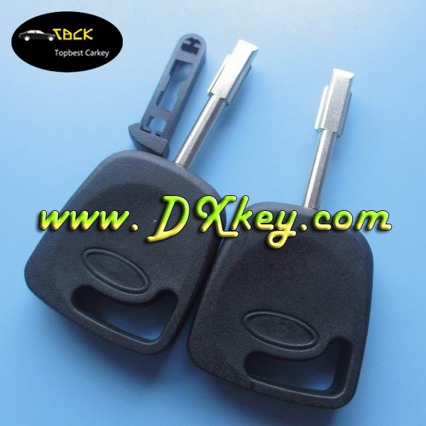 No logo transponder key car covers with black chip plug for Ford Mondeo car key shell ford key