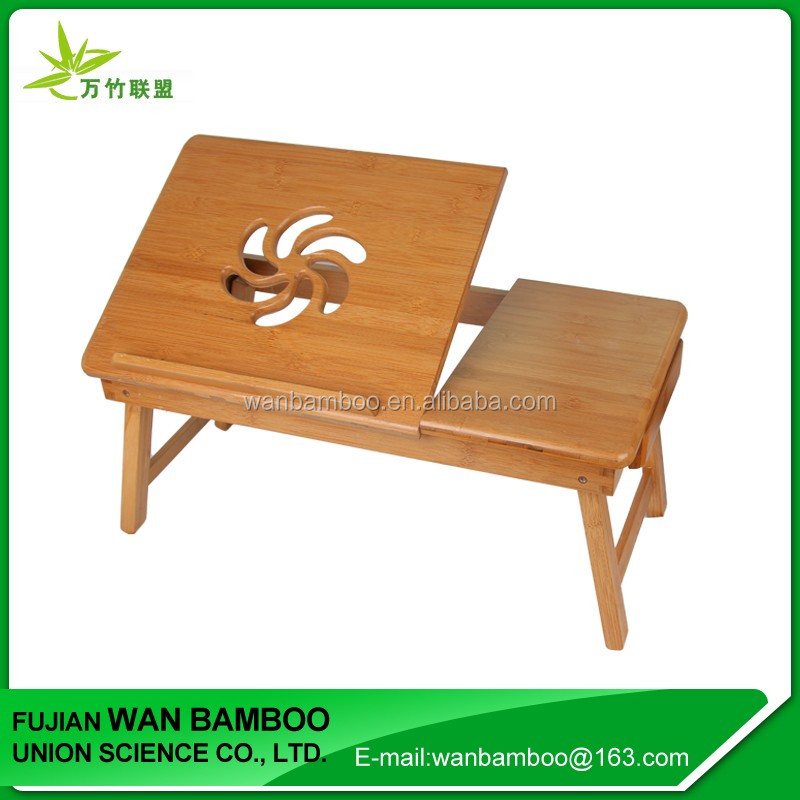 Promotion Adjustable Bamboo Folding Laptop Table for Sofa