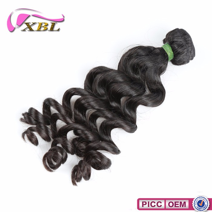 Best selling human hair products Brazilian loose curl deep hair weave