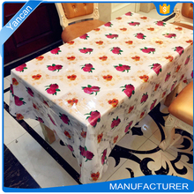 Non-toxic Decorative Plastic Tablecloth, Washable Vinyl Table Cloth Wholesale