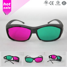 2016 new fashion ABS double color frame active 3d glasses