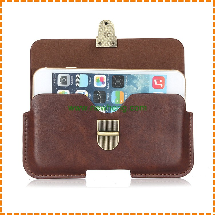 Universal Holster Waist hanging Belt Clip PU Leather Pouch Bag Case for iphone 7 plus