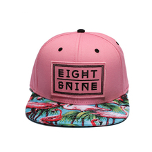 Pink flamingo snapback hat with embroidery logo