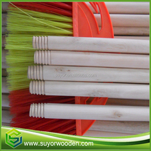 Hot sell main size 120x2.2cm natural broom handle wooden stick with 4.5 ring customize italian thread