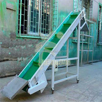 Lime powder big angle belt conveyors system for heavy industry