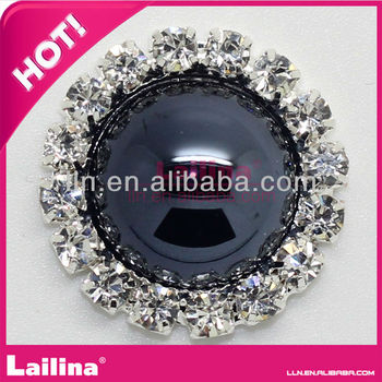 Black Pearl Rhinestone buttons