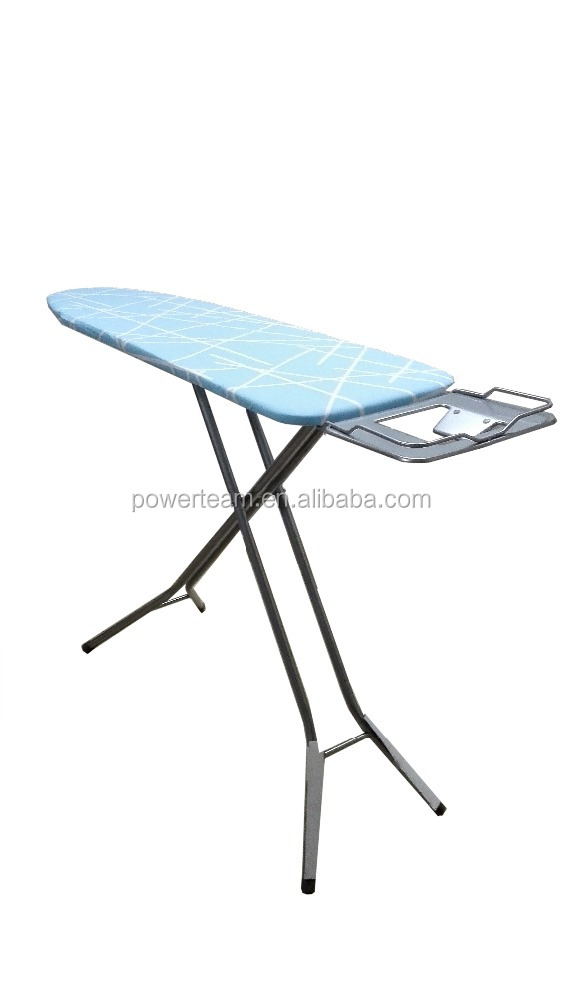 hot sale foldable ironing board with 100% cotton ironing board cover