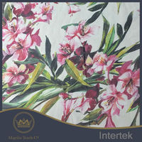 Chiffon printed oil painting flowers design chinese silk fabric