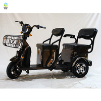 Portable light weight two seat fat tire mobile 3 wheel electric scooter for sale