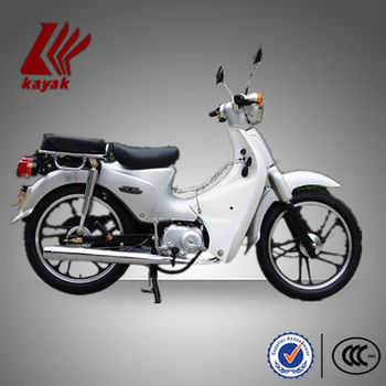 White Europe 50cc Cub Motorcycle With eec Certificate,KN50-4C