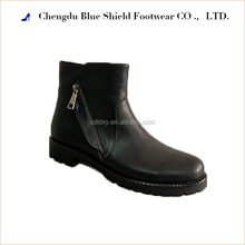 Lastest style fashion ladies horse riding genuine leather ankle heeled boots
