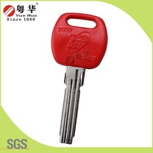 Custom red plastic rubber head brass blade kale key blanks for kale lock from 27 years key blank manufacturer