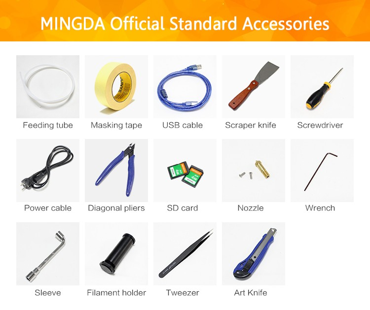 Shenzhen Manufacturer MINGDA MD-6S build size 300*300*600mm high precision Industrial large Desktop metal 3d printing