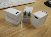 CE RoHS FCC Approved QC2.0 micro usb mobile phone wall charger ,ODM/OEM quick deliver power sockets