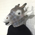 Halloween Giraffe Mask Masquerade Head Mask Animal Cosplay Costume The Latex Mask