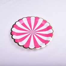 Japanese Cardboard Stripe Paper Colored Soup Plate Price